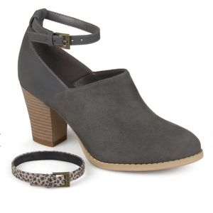 Gray Ankle Strap Booties from Journee Collection
